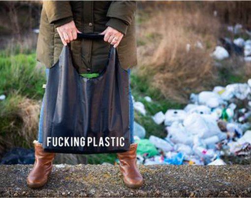 Fucking Plastic Bolsa Reutilizable | Bolsa de Compra Eco | Granada