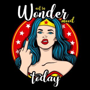 Camiseta Wonder Woman Mood Mujer