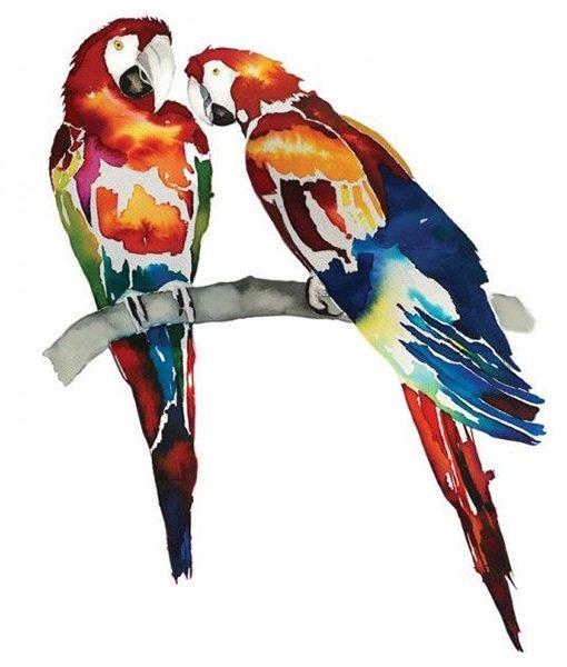 Tote Bag Papagayos Acuarelas