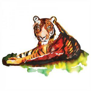 Tote Bag Tigre Acuarelas