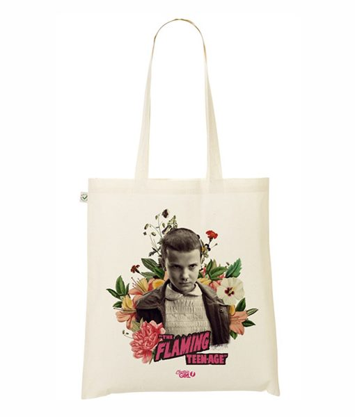Tote Bag Once Stranger Things Collage