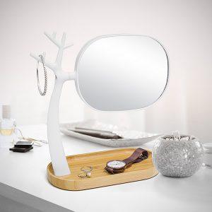 Espejo de Maquillaje | Soporte de Joyas Nature