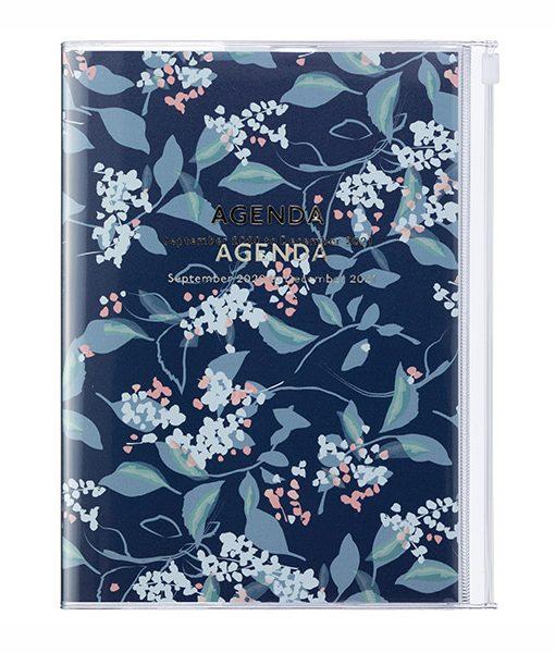 Agenda 2020-2021 Flores Azul A5 (16 meses)