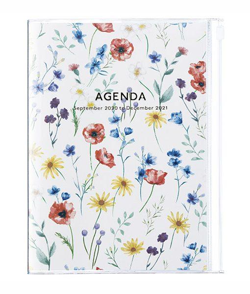Agenda 2020-2021 Flores Marfil A5 (16 meses)
