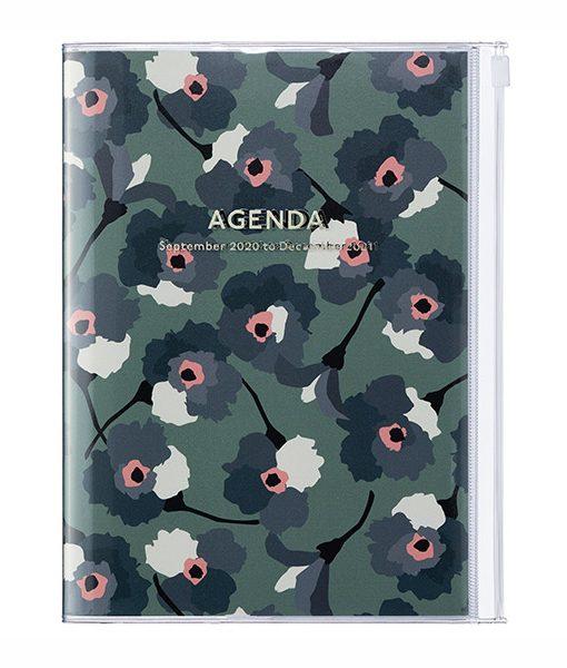 Agenda 2020-2021 Flores Verde A5 (16 meses)