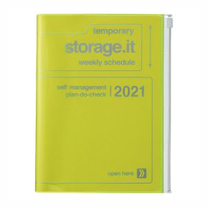 Agenda Storage It Amarillo Flúor 2020-2021 A5 (16 meses)