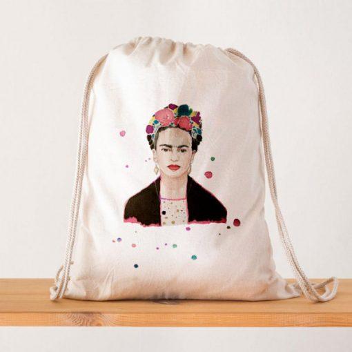 Mochila Frida Kahlo Acuarelas