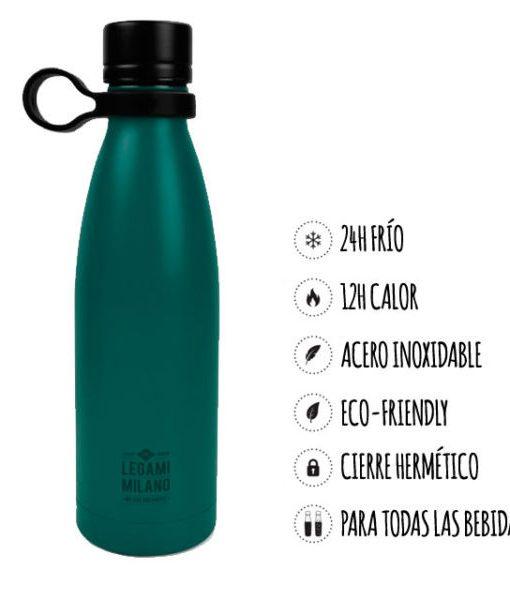 Botella Termo Azul Acero Inoxidable