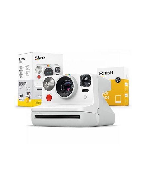 Pack Cámara Polaroid Now Blanca + 2 Películas i-Type