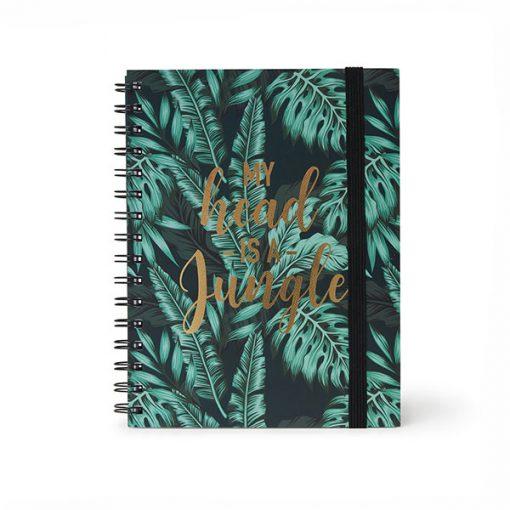 Cuaderno Espiral Jungla Hojas Rayadas