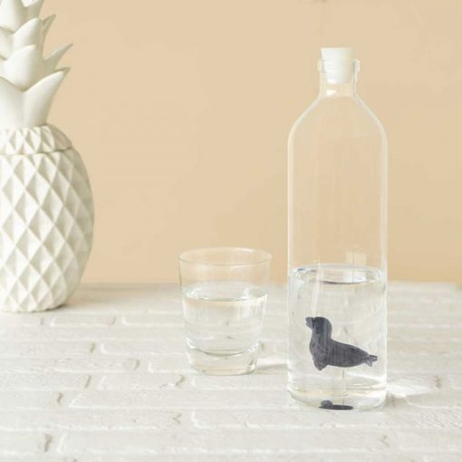 Botella de Agua Foca de Vidrio