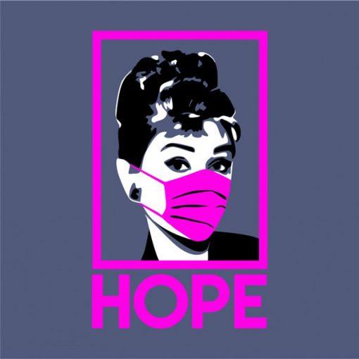 Audrey con Mascarilla Hope