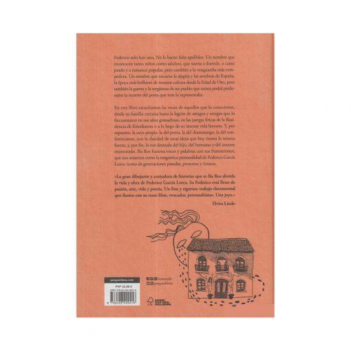Contraportada Federico Ilu Ros | Libro Ilustrado de la vida de Federico García Lorca